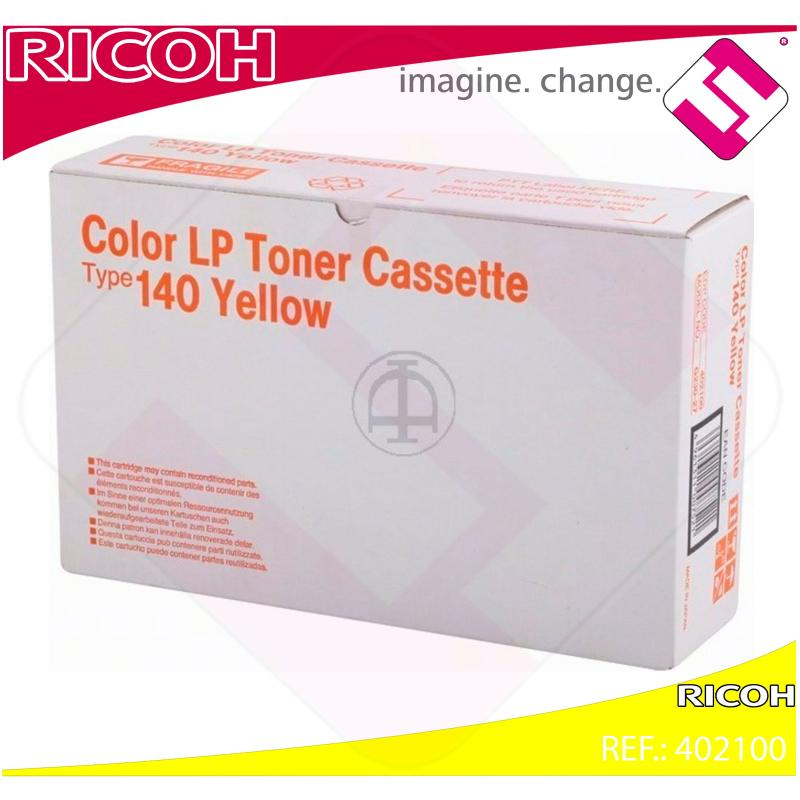 RICOH TONER LASER AMARILLO TYPE 140 CL/800PEXTINGUIR