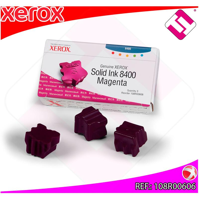 XEROX CARTUCHO TINTA SOLIDA MAGENTA 3 BARRAS PHASER 8400