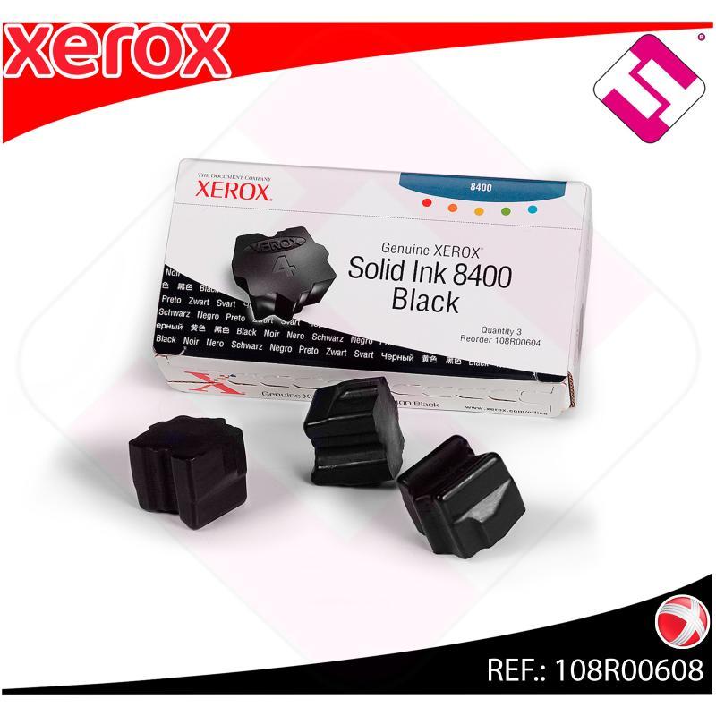 XEROX CARTUCHO TINTA SOLIDA NEGRO 6 BARRAS PHASER/8400
