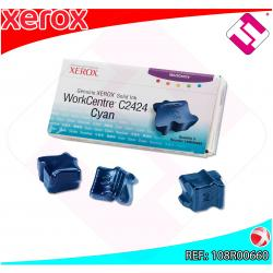 XEROX CARTUCHO TINTA SOLIDA CIAN 3 BARRAS PACK 3 WORKCENTRE/