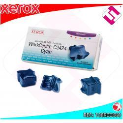 XEROX CARTUCHO TINTA SOLIDA CIAN 3 BARRAS PACK 3 WORKCENTRE/