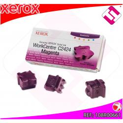 XEROX CARTUCHO TINTA SOLIDA MAGENTA 3 BARRAS PACK 3 WORKCENT