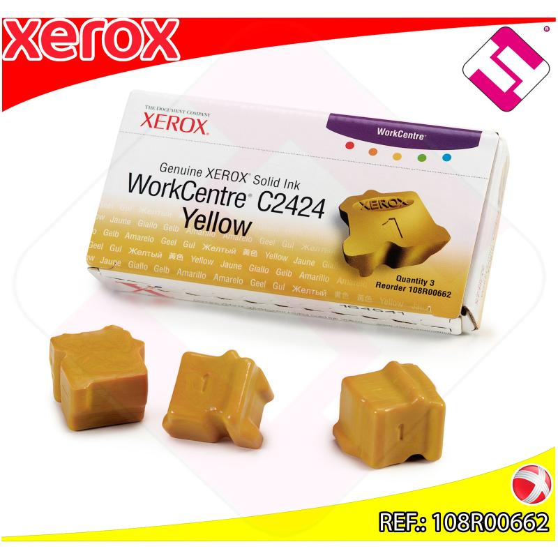 XEROX CARTUCHO TINTA SOLIDA AMARILLO 3 BARRAS PACK 3 WORKCEN