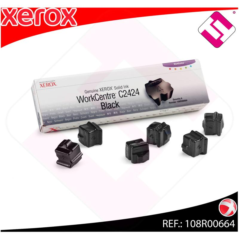 XEROX CARTUCHO TINTA SOLIDA NEGRO 6 BARRAS WORKCENTRE/C2424