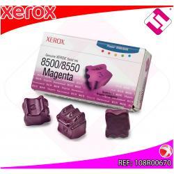 XEROX CARTUCHO TINTA SOLIDA MAGENTA 3 BARRAS PHASER/8500/855